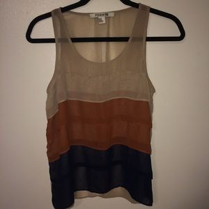 Colorful layered tank top